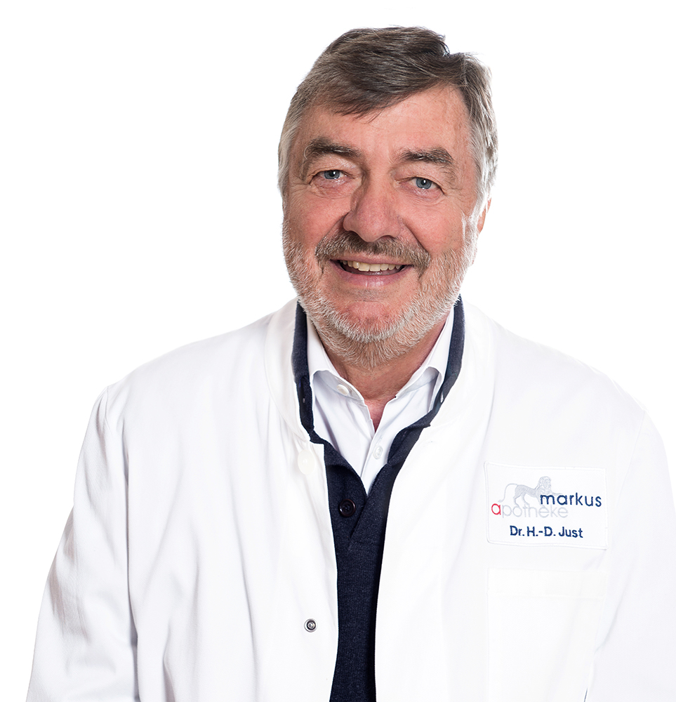 Dr. Just, Apotheker und der Besitzer der Markus Apotheke in Bremen