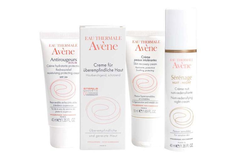 Eine Zusammenstellung aus Avéne Produkten der Markus Apotheke Bremen